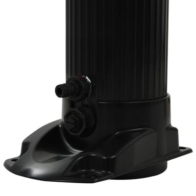 vidaXL Ducha solar plegable negra 214 cm 23 L
