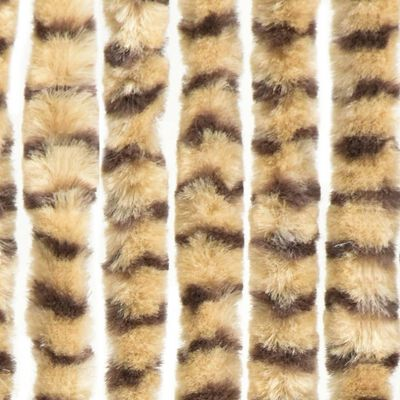 vidaXL Cortina mosquitera beige y marrón chenilla 90x220 cm