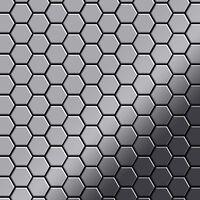 ALLOY Honey-S-S-M Mosaico de metal sólido Acero inoxidable gris