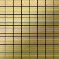 ALLOY Cabin-Ti-GB Mosaico de metal sólido Titanio oro
