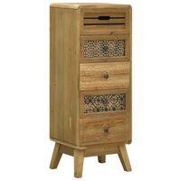 vidaXL Aparador con 5 cajones madera marrón 37x30x97,5 cm