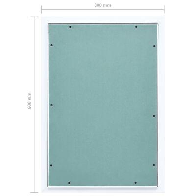 vidaXL Panel de acceso estructura aluminio y placa de yeso 300x600 mm