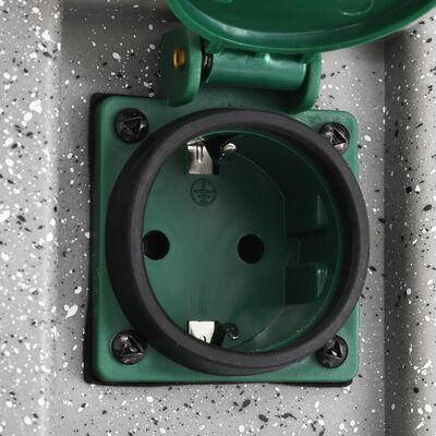 vidaXL Enchufe de jardín con sensor de ocaso plástico