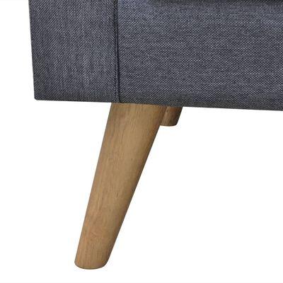 vidaXL Conjunto de sofás de 2 y 3 plazas de tela gris oscuro