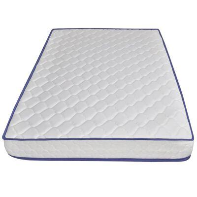 vidaXL Cama con colchón viscoelástico tela gris claro 140x200 cm