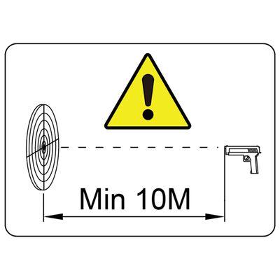 vidaXL Objetivo de tiro magnético recoge perdigones 4+1 diseño ratón