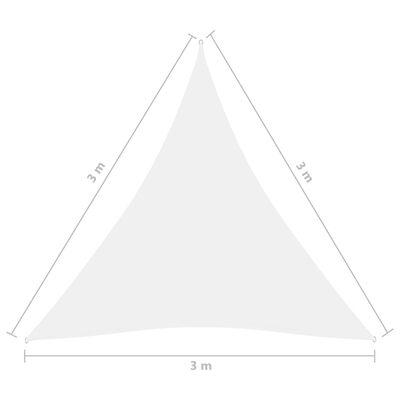 vidaXL Toldo de vela triangular de tela oxford blanco 3x3x3 m