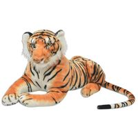 vidaXL Tigre de peluche marrón XXL