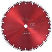 vidaXL Disco de corte de diamante con turbo acero 300 mm