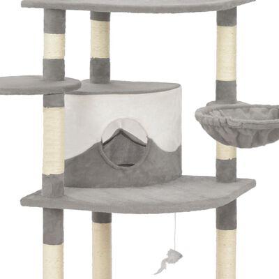 vidaXL Rascador para gatos con postes de sisal 190 cm gris