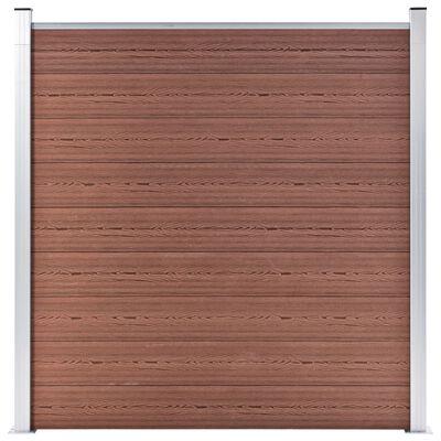 vidaXL Valla de jardín de WPC marrón 1737x186 cm