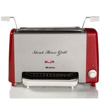 Ariete Grill Steakhouse Party Time 1300 W rojo y plateado