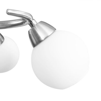vidaXL Lámpara de techo pantallas cerámica bol blanco 5 bombillas E14
