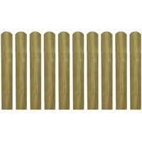 vidaXL Valla de jardín de listones 10 piezas madera 60 cm