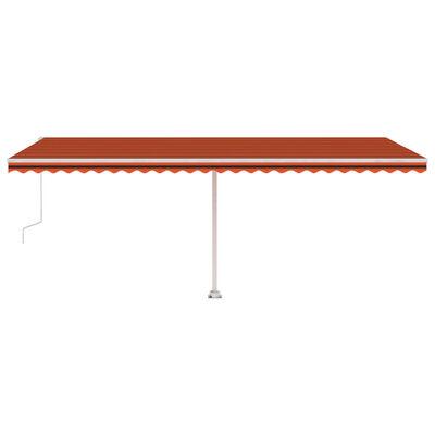 vidaXL Toldo de pie automático naranja y marrón 600x300 cm