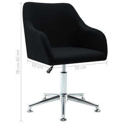 vidaXL Silla de oficina giratoria de tela negra