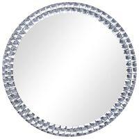 vidaXL Espejo de pared de vidrio templado 50 cm