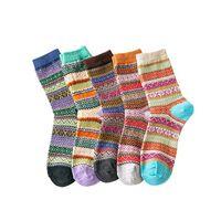 Calcetines De Invierno Para Mujer, De Punto, Talla Única, Paquete De 5