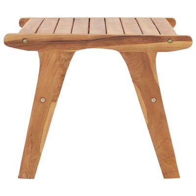 vidaXL Silla de jardín con reposapiés de madera maciza de teca