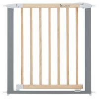 Badabulle Puerta de seguridad Safe & Lock madera metal gris 73-81,5 cm