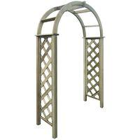 vidaXL Arco de celosía de madera de pino verde impregnada