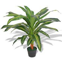 vidaXL Planta de drácena artificial con maceta 90 cm verde