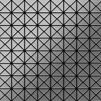 ALLOY Deco-S-S-MB Mosaico de metal sólido Acero inoxidable gris