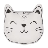 Cojín decorativo gato blanco/negro 42x38 cm CENNAJ