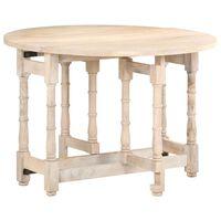 vidaXL Mesa de comedor redonda de madera maciza de mango 110x76 cm