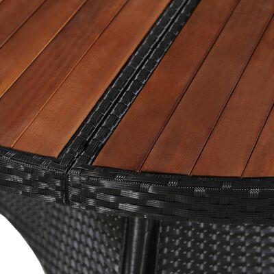 vidaXL Mesa de jardín ratán sintético madera maciza acacia 115x74 cm