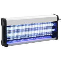 vidaXL Lámpara antimosquitos de aluminio y ABS negro 40 W
