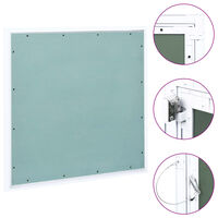 vidaXL Panel de acceso estructura aluminio y placa de yeso 500x500 mm