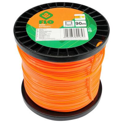 FLO Cable de cortacésped Extranyl naranja 2,4 mm 90 m