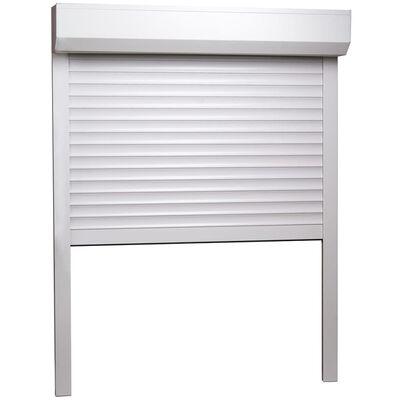 vidaXL Persiana enrollable aluminio blanca 70x100 cm