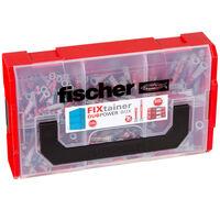 Fischer Set de tacos de pared FIXtainer DUOPOWER corto/largo 210 pzas