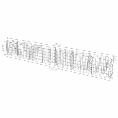 vidaXL Muro de gaviones de acero 450x30x50 cm