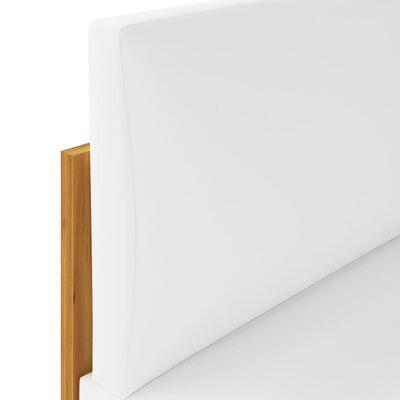 vidaXL Muebles de jardín 5 pzas cojines crema madera maciza de acacia