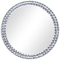vidaXL Espejo de pared de vidrio templado 40 cm