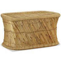 vidaXL Mesa de centro rectangular 78x50x45 cm bambú