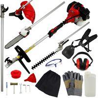 Cortacésped Multifunción 5en1 52cc para Jardinería & Kit de Seguridad