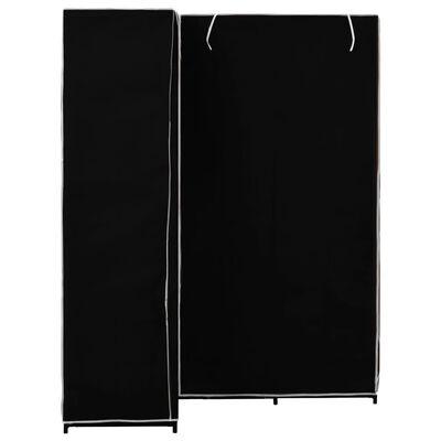 vidaXL Armario de esquina negro 130x87x169 cm