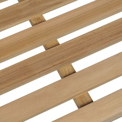 vidaXL Banco de jardín madera maciza teca con cojín gris 175 cm