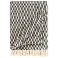 vidaXL Manta de algodón gris antracita 160x210 cm