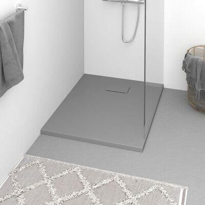 vidaXL Plato de ducha SMC gris 90x70 cm