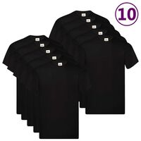 Fruit of the Loom Camisetas originales 10 uds negras M algodón