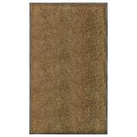 vidaXL Felpudo lavable marrón 90x150 cm
