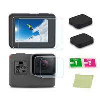 Cubierta de lente y protector de pantalla GoPro Hero5 Hero6 Hero7 Blac
