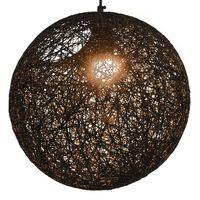 vidaXL Lámpara colgante esférica negra E27 35 cm