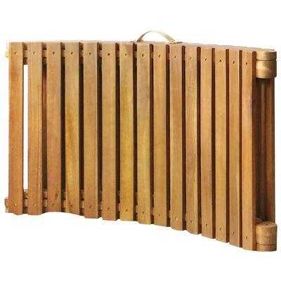 vidaXL Tumbona de jardín con cojín madera maciza de acacia