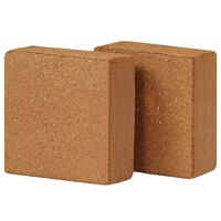 vidaXL Bloques de fibra de coco 5 kg 30x30x10 cm 2 unidades